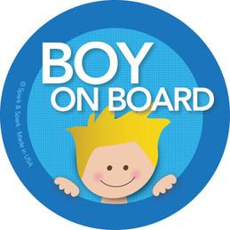 Fun Baby in Car Sticker with Blonde Boy | Spark & Spark