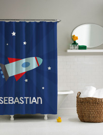 Rocket Launch Shower Curtain