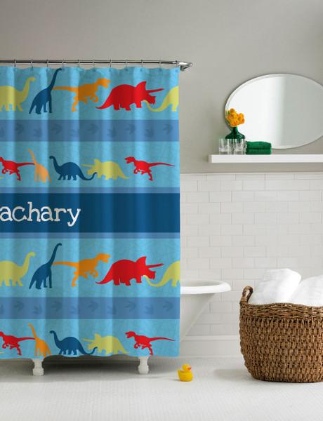 Dinosaur Trails Shower Curtain