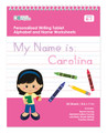 Personalized English Writing Book with Black Hair Girl