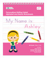 Personalized English Writing Book with Blonde Girl