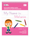 Personalized English Writing Book with Red Hair Girl