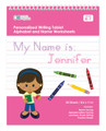 Personalized English Writing Book with African American Girl