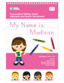 Personalized English Writing Books for Girls