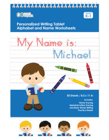 Personalized English Writing Book for Boys With Multiple Hair Options
