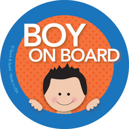 Baby On Board Car Sign with Black Hair Boy | Spark & Spark