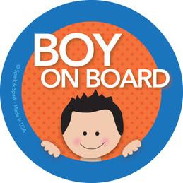 Baby On Board Car Sign with Black Hair Boy | Spark & Spark