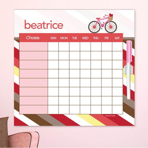 A Lovely Girl Ride Chore Chart For Kids
