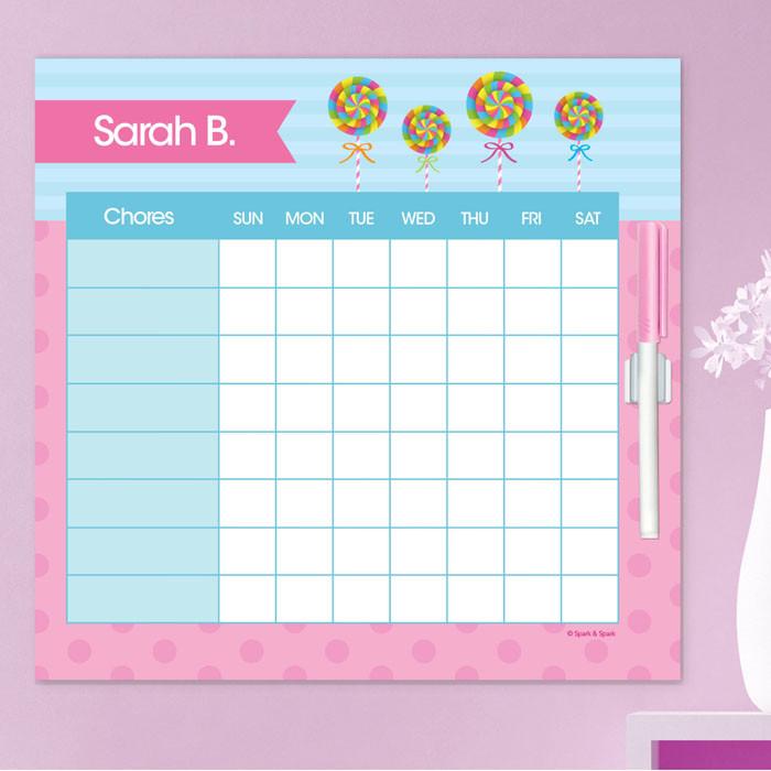 Yummy Lollipop Chore Calendar By Spark Spark