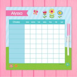Spring Blooms Toddler Chore Chart