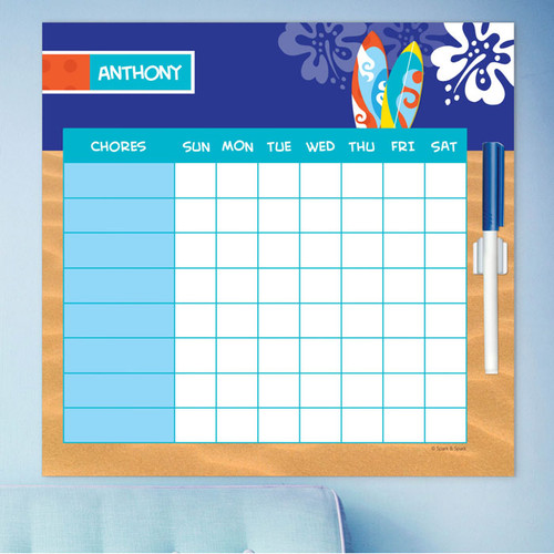 Surf The Waves Toddler Chore Chart