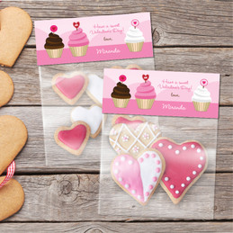 A Sweet Cupcake For Valentine Favor Bags
