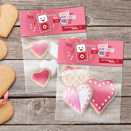 Pink Boom Boom for you Treat Bags
