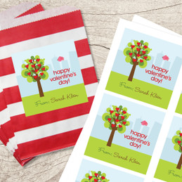 A Tree of Love Square Label