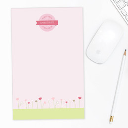 Sweet Field Circle Custom Notepad