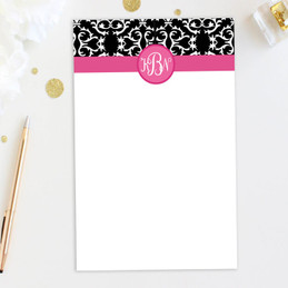 Awesome Personalized Lined Notepads | Victorian Initials