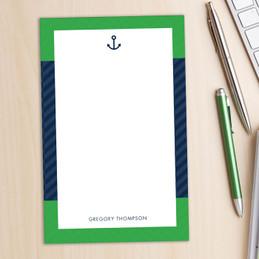 Nautical Anchor Custom Notepad