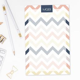 Colorful Chevrons Custom Notepad
