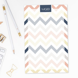 Browse Personalized Note Pads | Colorful Chevrons