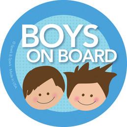 On Board Stickers - Brunette Boys