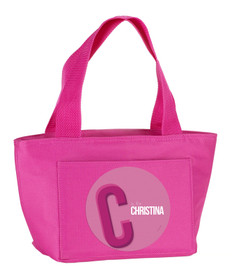 Double Initial (Pink) Kids Lunch Tote