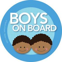 Cool Baby On Board Sticker w African American Boys | Spark