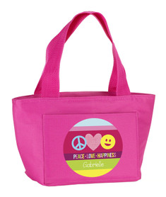 Peace & Love Signs Kids Lunch Tote