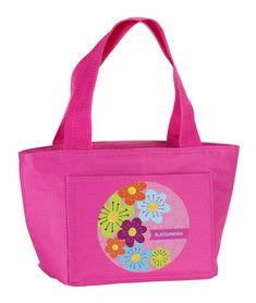 Shiny Bold Flowers Kids Lunch Tote