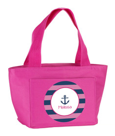 Let's Sail (Pink) Kids Lunch Tote