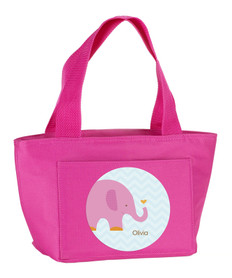 Sweet Pink Elephant Kids Lunch Tote