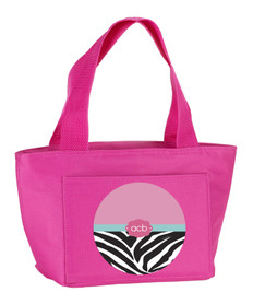 Zebra & Pink Kids Lunch Tote