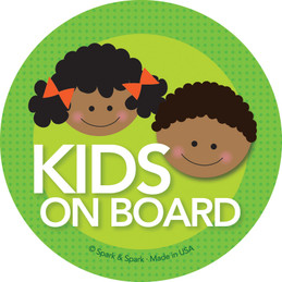Baby On Board Sign with African American Brother & Sister
