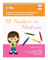 Spanish Personalized Writing Book for Brunette Girls