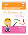 Spanish Personalized Writing Book for Blonde Girls