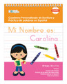 Spanish Personalized Writing Book for Black Hair Girls