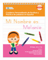 Spanish Personalized Writing Book for Red Hair Girls