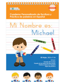 Spanish Personalized Writing Books for Kids