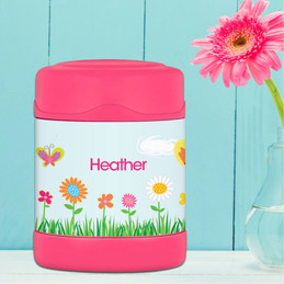 butterfly field personalized thermos food jar for kids