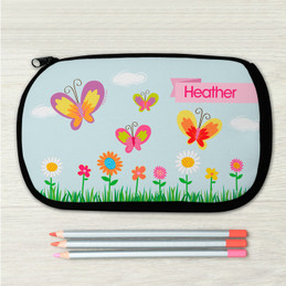 A Butterfly Field Pencil Case for Kids