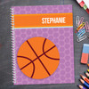 Basketball Fan Girl Kids Notebook