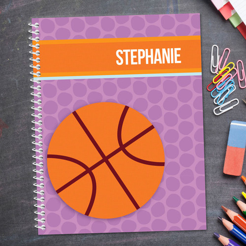 Basketball Fan Girl Kids Notebook