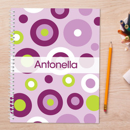 Circles and Circles Purple Kids Notebook