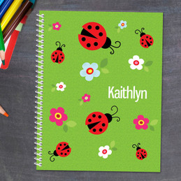 Curious Lady Bug Kids Notebook