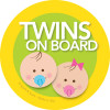 Sweet Baby On Board Car Sign with Brunette Baby Boy & Girl