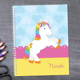 Cute Rainbow Pony Kids Notebook