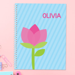 Cute Tulip Kids Notebook