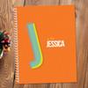 Orange Double Initial Kids Notebook