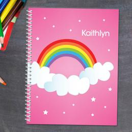 Dreamy Rainbow Kids Notebook