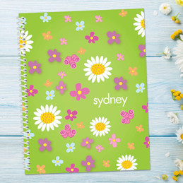 Green Field of Flowers Notebook