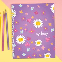 Purple Field of Flowers Kids Notebook